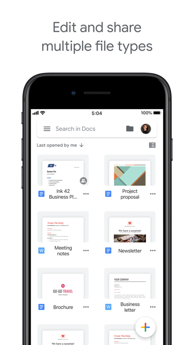 Google Docs: Sync, Edit, Share iPhone