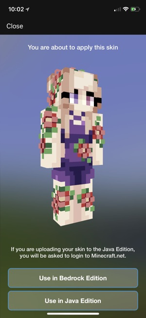 put your minecraft skin in a picture