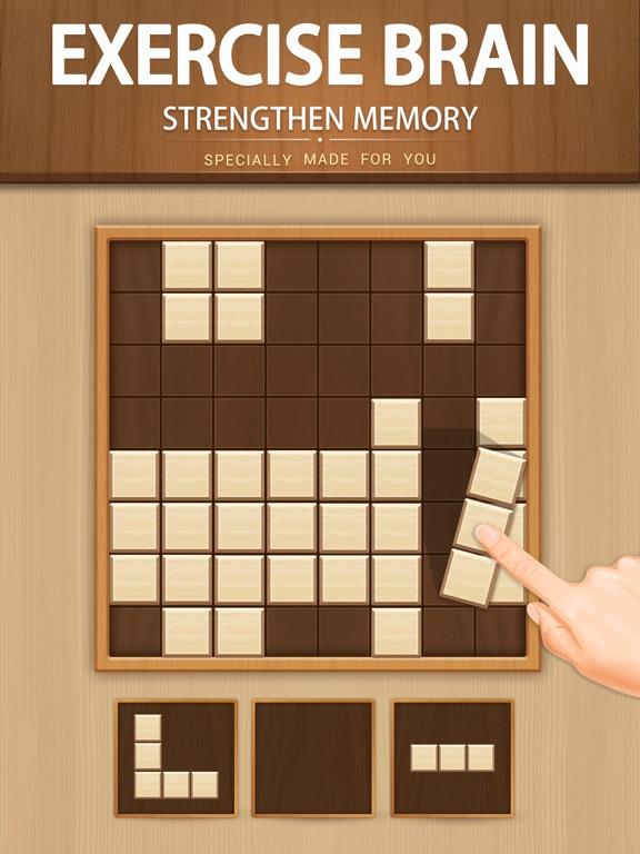 Деревянная блочная головоломка для iPad