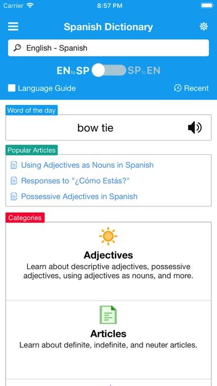 English - Spanish Dictionary