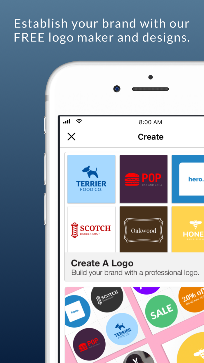 Business Card Maker & Logo App Screenshot