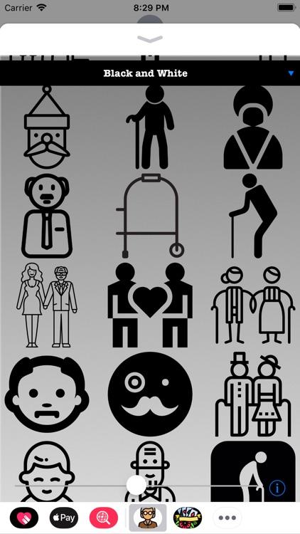 Old People HD Stickers screenshot-3