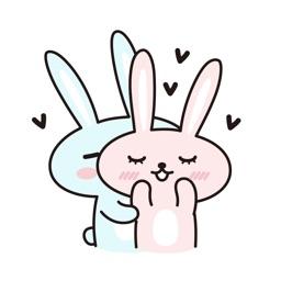 Cute bunny couple