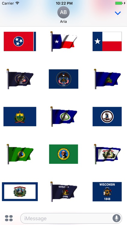 Animated Flags Of 50 US States screenshot-7