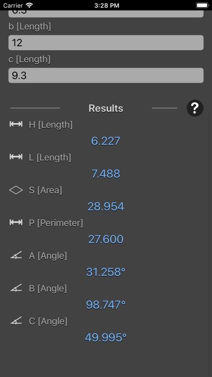 Triangle Calculator Plus screenshot-3
