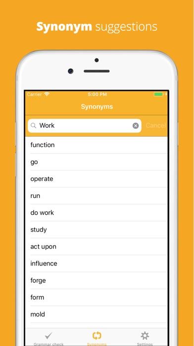 CorrectMe English Grammar help Screenshot on iOS