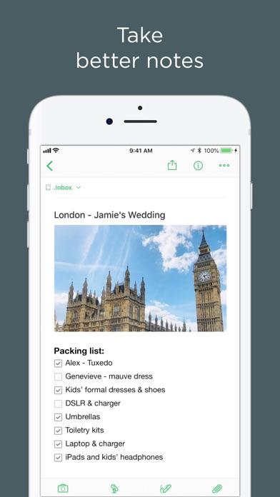 Screenshots for Evernote