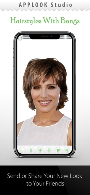 Hairstyle Try On With Bangs On The App Store