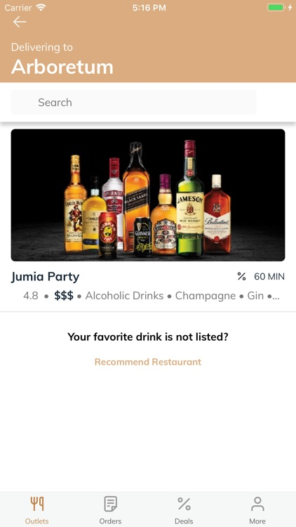 Jumia Party - Spirits & Beers