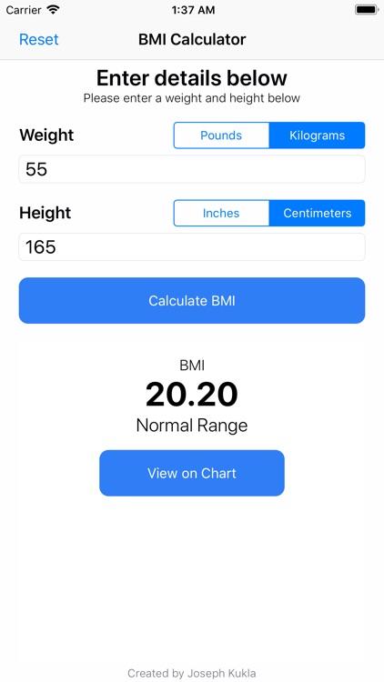 BMI Calculator++ screenshot-4