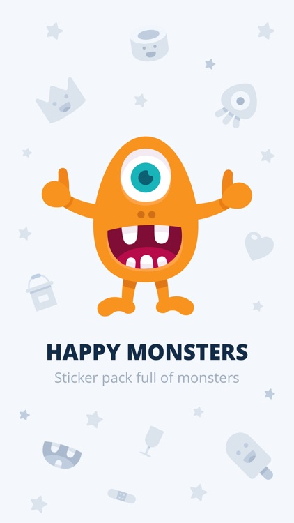 Happy Monster stickers