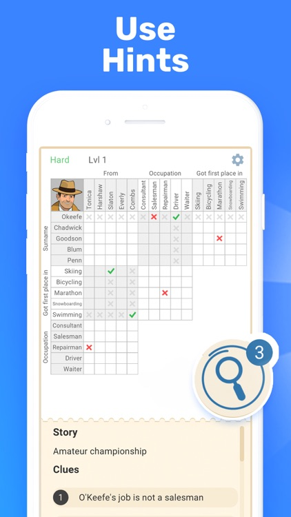 Cross Logic Puzzle Game screenshot-3