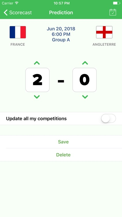 Scorecast app screenshot-3