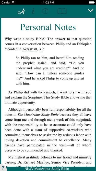 MacArthur Study Bible - NKJV Screenshot
