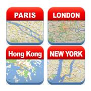 Most Visited Cities Offline Maps Bundle - City Metro Airport
