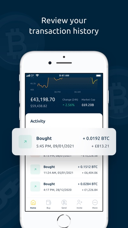 Coinfloor - Buy & Sell Bitcoin screenshot-5