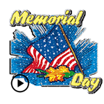 Memorial Day Animated Stickers