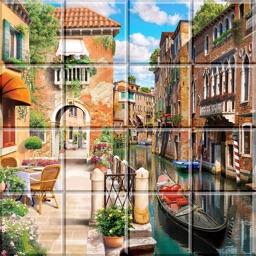 Tile Puzzle Peaceful Places