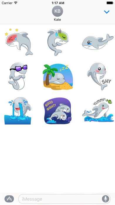 Adorable Dolphin Sticker Screenshot