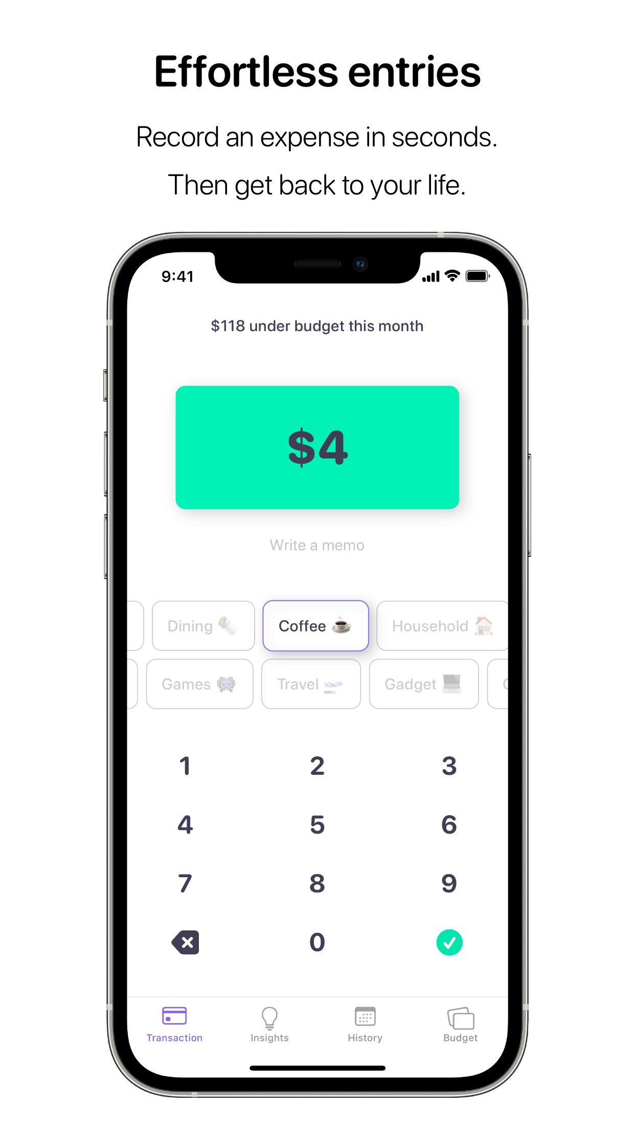 Screenshot do app Nudget: Spending Tracker