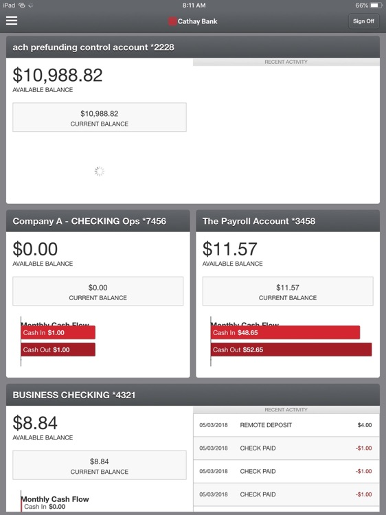 Cathay Bank Business for iPad