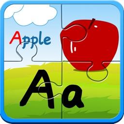 Alphabet ABC jigsaw flash card