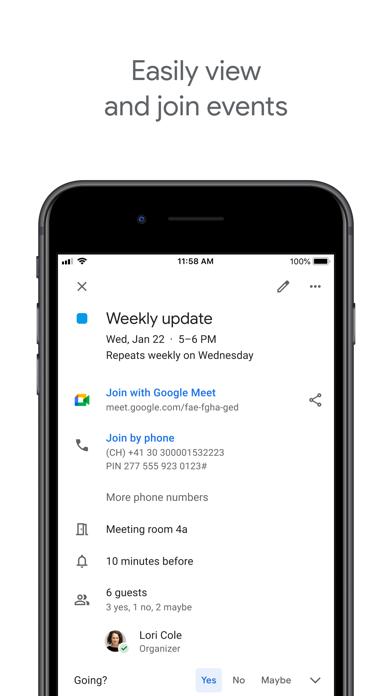 cancel Google Calendar: Get Organized app subscription image 1