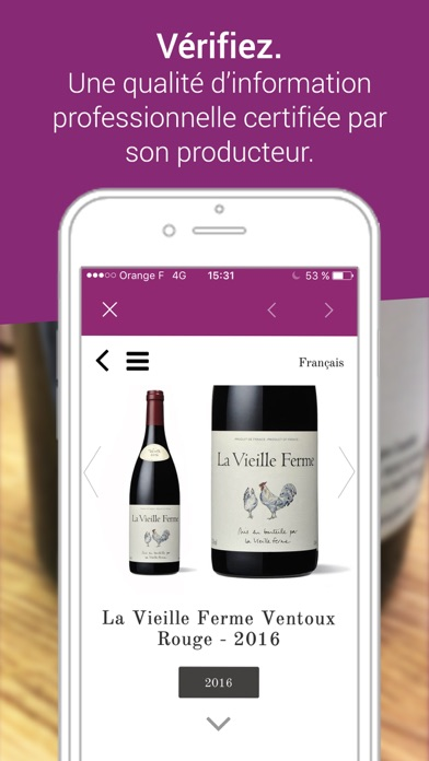 Vincod. Scan vins & champagnes screenshot three