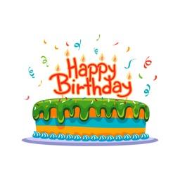 Birthday Party Cake Happy Wish