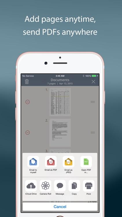 TurboScan™: document scanner screenshot-3