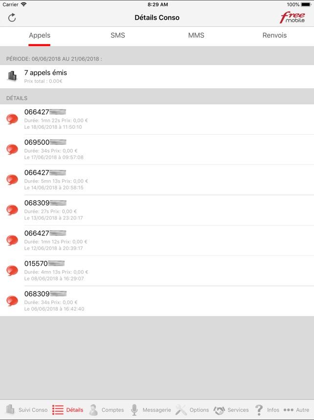 Mon Compte Pour Free Mobile Dans L App Store