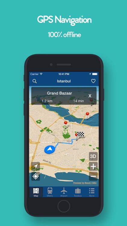 Istanbul Offline Map, Metro screenshot-3