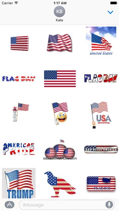 Happy Flag Day Sticker screenshot 2