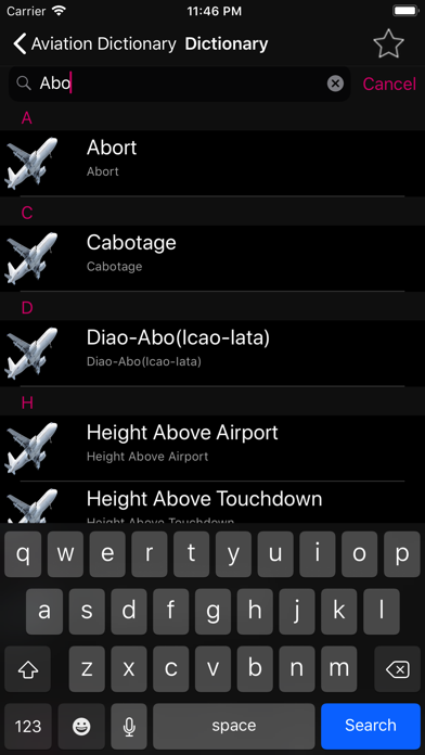 Aviation Dictionary Premium App Download - Reference