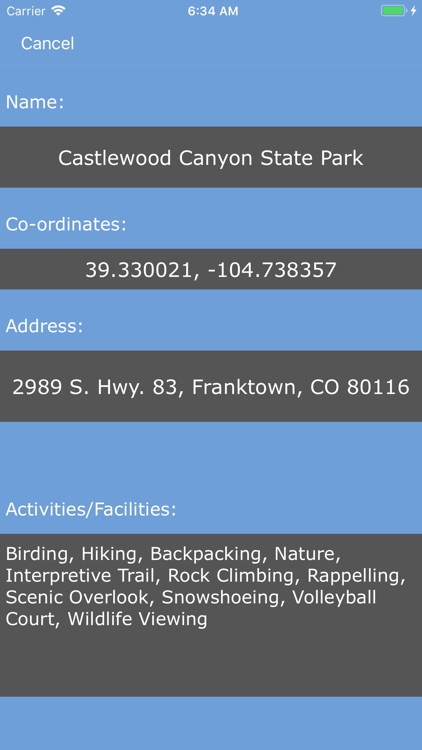 Colorado State Parks!