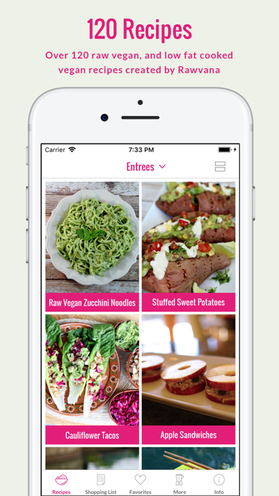 Screenshot for Rawvana's Raw Recipes in Taiwan App Store