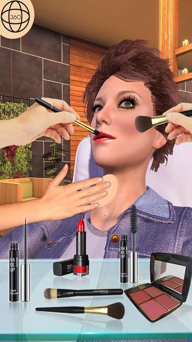 Girl Makeup Salon Spa Games 3D screenshot one