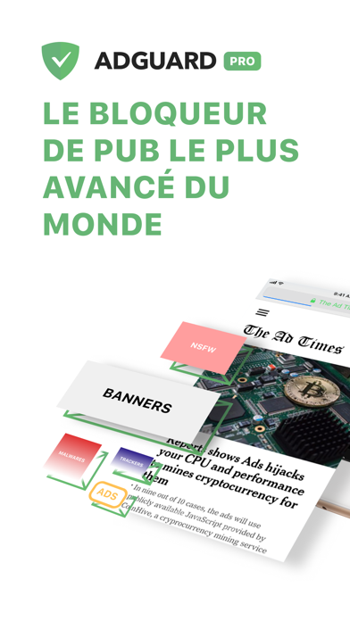 Screenshot AdGuard Pro — adblock avancé