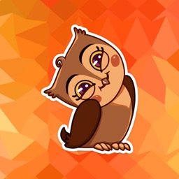 Cool Owl Emotions Stickers Pack for iMessage