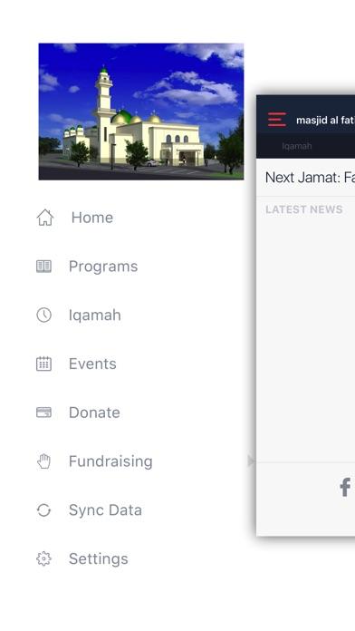 Screenshot of Masjid Al-Fatima App