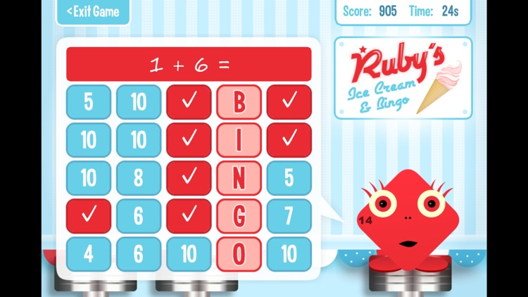 Squeebles Maths Bingo screenshot-3
