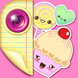 Kawaii Stickers for Photos: Cute Sticker Selfie