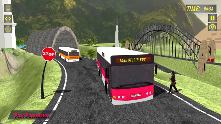 Elevated Bus Parking : Hill Station Bus Drive Game screenshot-3