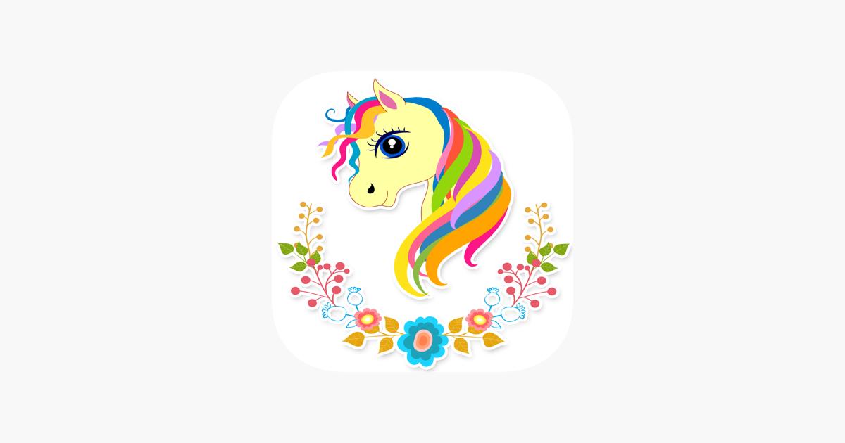 Kız Sevimli Unicorn Boyama Sayfa App Storeda