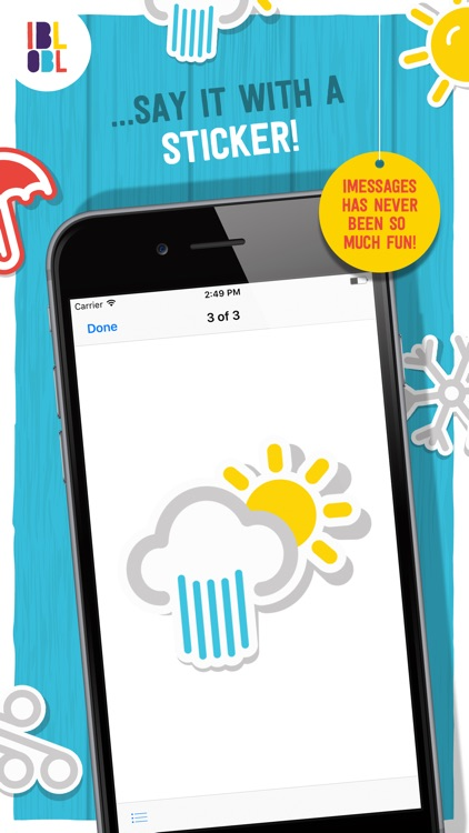 Ibbleobble Weather Stickers for iMessage