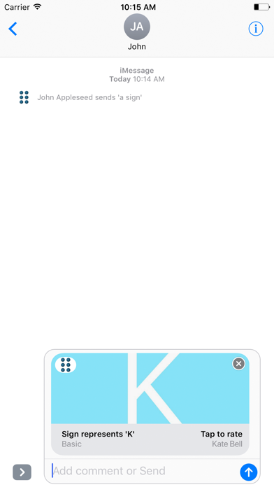 Send Braille screenshot two
