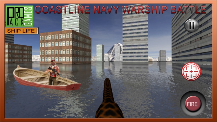 Coastline Navy Warship Fleet - Battle Simulator 3D
