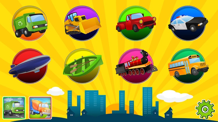 Trucks and Diggers Puzzles Games For Little Boys screenshot-4