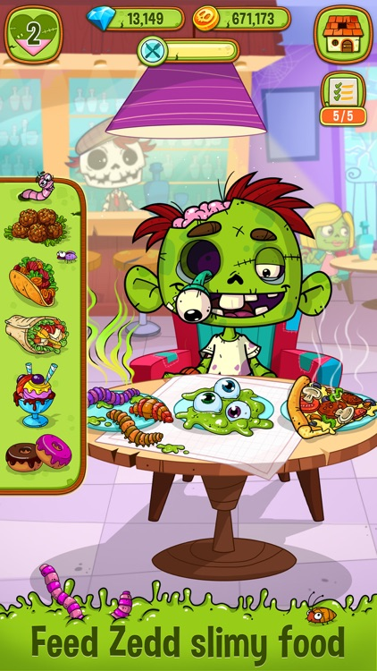 Zedd the Zombie - Grow Your Wacky Friend screenshot-0