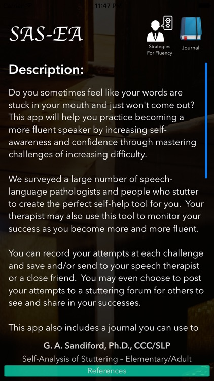 Self-Analysis of Stuttering - Elementary/Adult